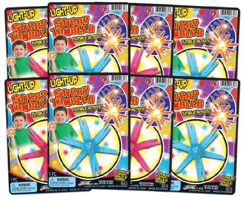 Ja-Ru Light Up Sticky Tumbler Party Favor Bundle Pack (Wall Walkers)