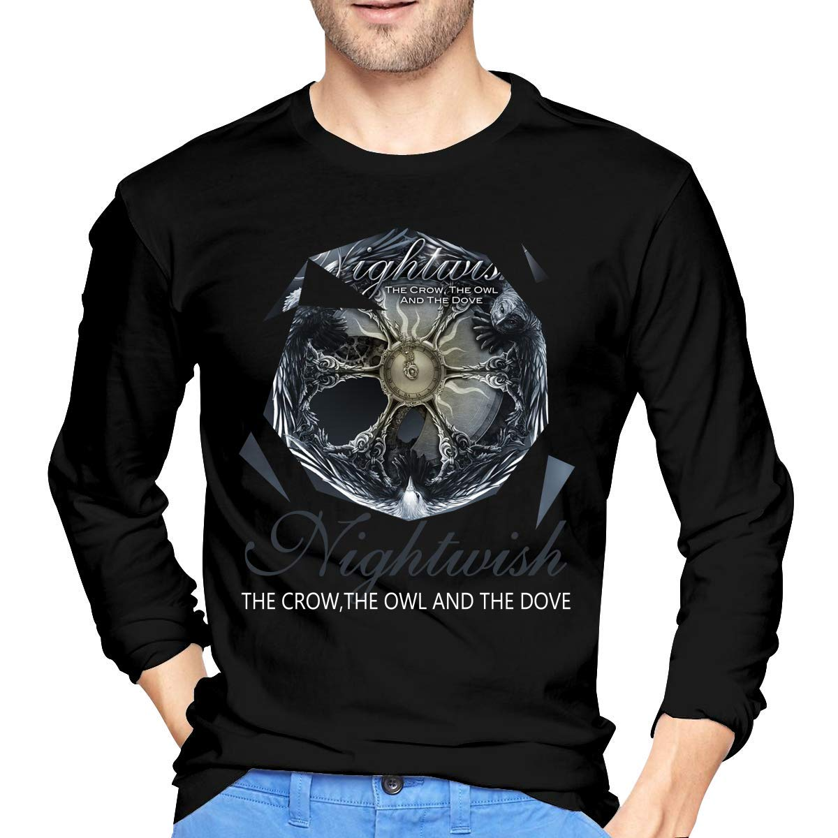 Fssatung S Nightwish The Crow The Owl And The Dove Tee Black Shirts