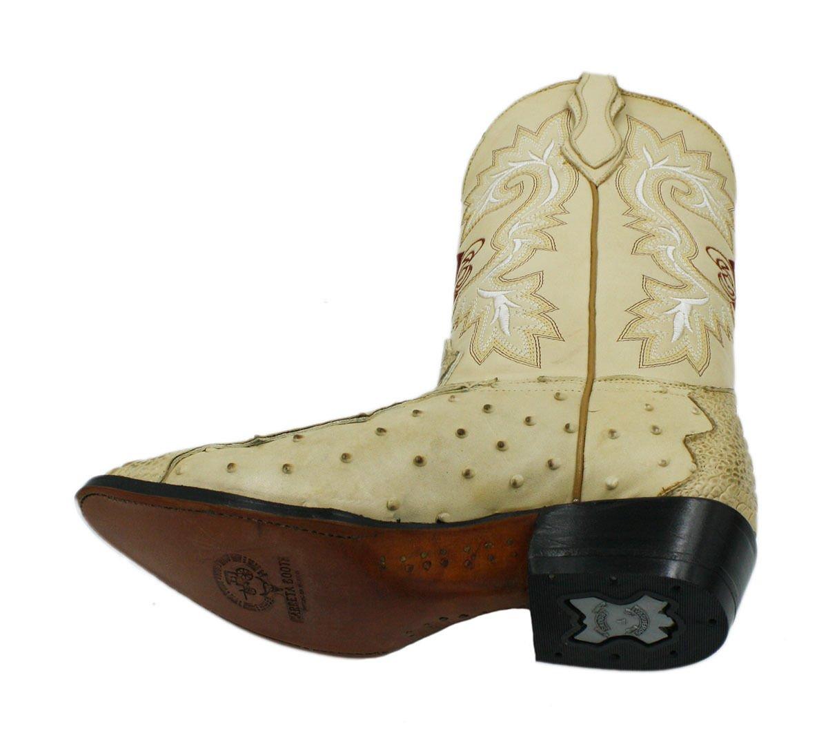 34dd78312d Botas de vaquero J Toe con estampado de avestruz y cuero de cocodrilo  genuino Orix