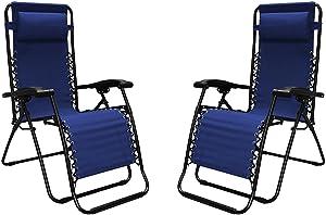 Caravan Sports Infinity Zero Gravity Reclining Chair 2pk Size: No Size Blue