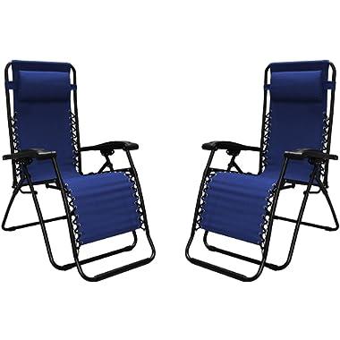 Caravan Sports Infinity Zero Gravity Reclining Chair 2PK Blue