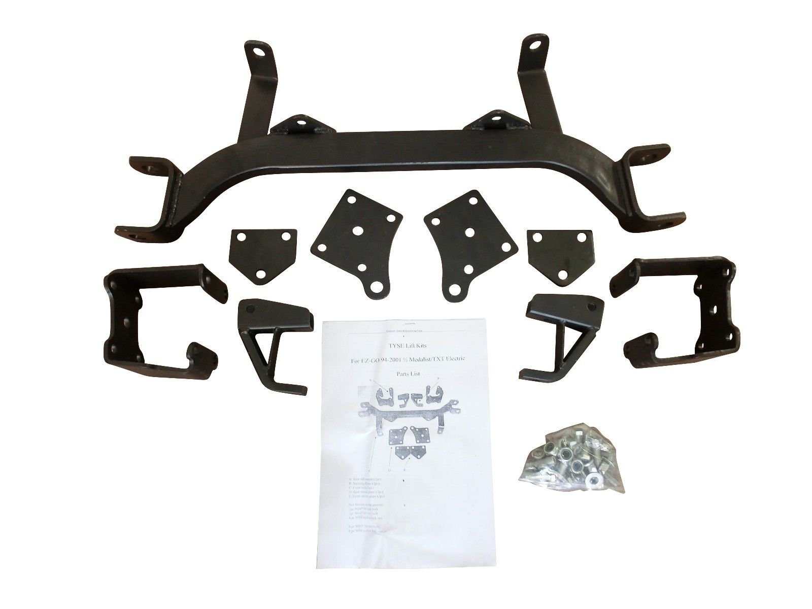 6'' Drop Axle Lift Kits for EZGO Golf Cart 1994-2001.5 Electric TXT Model