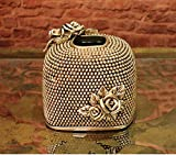 WWQY European resin crafts home decoration pearl rose tissue box living room decoration 14 17 13