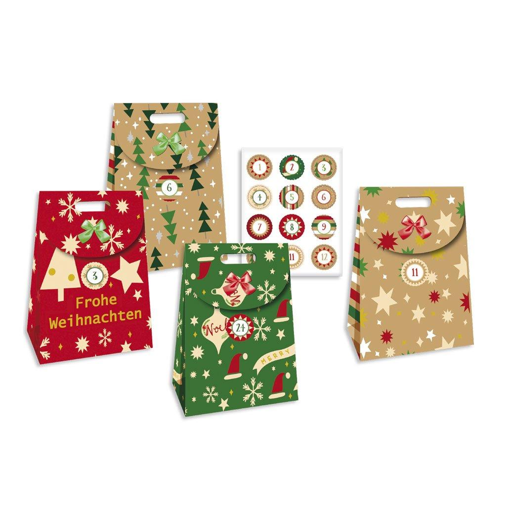 24 Adventsshopper: zum Befüllen Roth 80308 Weihnachten Briefchen