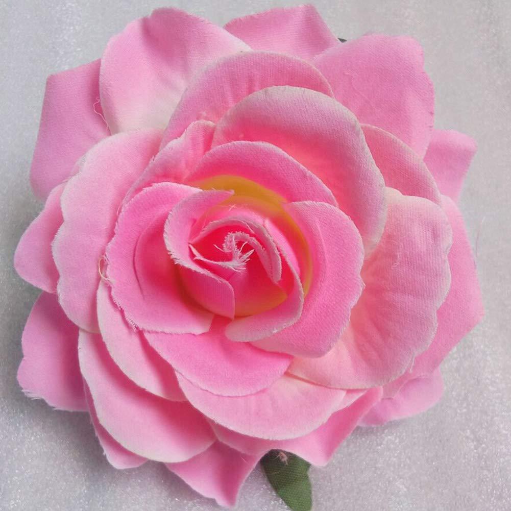 Clip rose artificielle Fleur Rose Accessoires cheveux fille Broche 2Pcs Raisin Violet