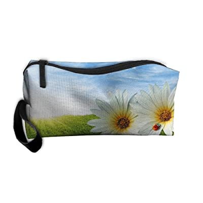 Clutch Pouch For Women Cosmetic Case With Zipper Daisy Sky Travel
