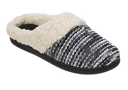 3d4bbd255b98 Dearfoams Women s Knit Dye Clog Memory Foam Slipper (X-Large