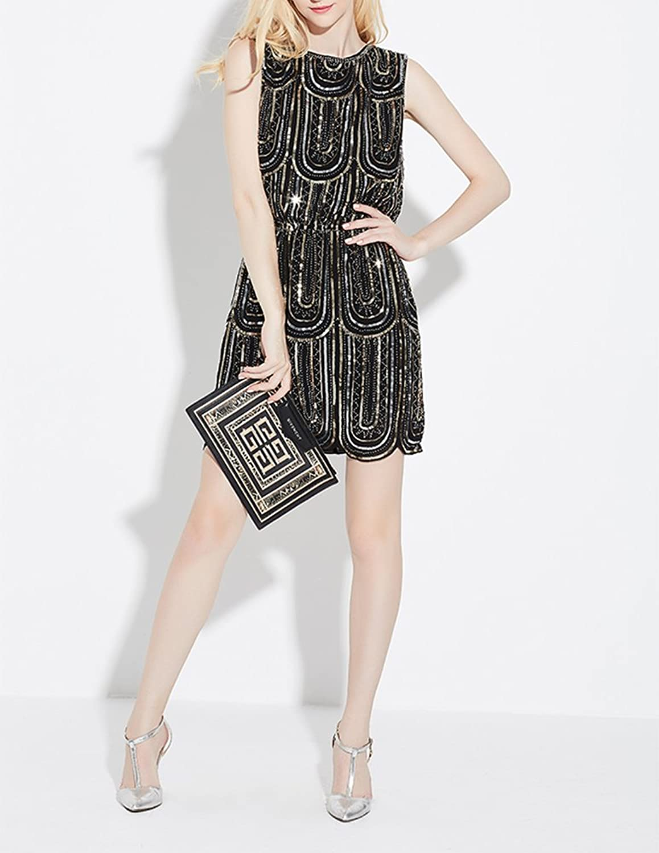 Amazon.com: Exlura Vintage Cocktail Party Dress 1920\'s Gatsby Beaded ...
