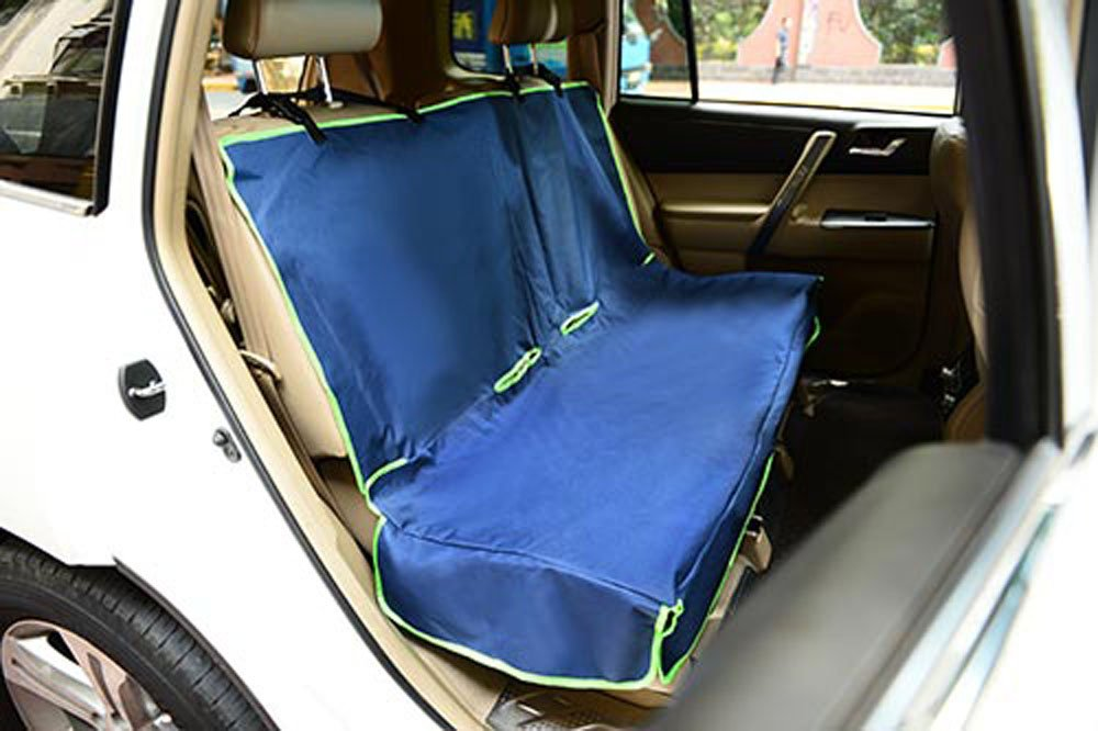 Iconic Pet Furrygo Car Bench Seat Cover, Navy bluee