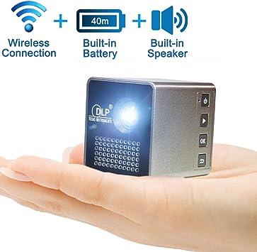 Mini inalámbrico unplug-in Proyector (sincrónica Protector de con ...