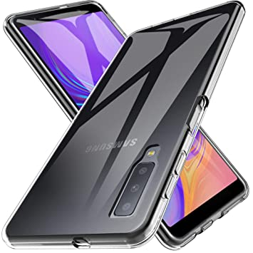 LK Funda para Samsung Galaxy A7 2018, Carcasa Cubierta TPU Silicona Goma Suave Case Cover Play Fino Anti-Arañazos - Clara