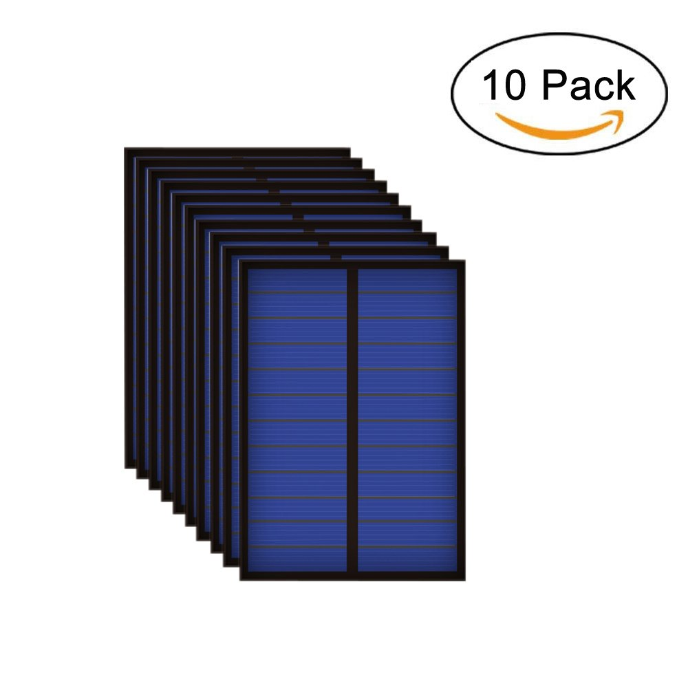 10PCS X 6V 167mA 1Watt 1W Solar Panel Standard Epoxy Polycrystalline Silicon DIY Battery Power Charge Module Mini Solar Cell toy DPJ