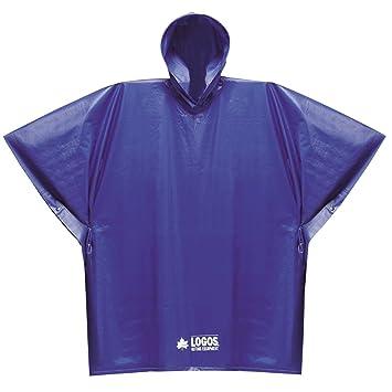 amazon co jp ロゴス logos pvcポンチョジュニア ブルー フリーサイズ
