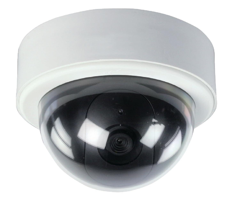 Interior y exterior De pl/ástico IP44 K/önig SAS-DUMMYCAM95 color blanco C/ámara de seguridad AA Almohadilla