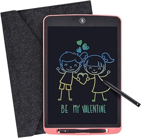 LCDライティングタブレット、キッズ大人のホームスクールOfficeの12インチデジタルeWriterカラフルな画面の電子グラフィックタブレットポータブルミニライティングボード手書き落書きパッドドローイングタブレットメモノート Lzpzz (Color : 12 inch Pink)