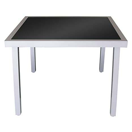 Tavoli Da Giardino In Alluminio Amazon.Lager Raeumung Tavolo Da Giardino In Alluminio Tavolino In Vetro 90