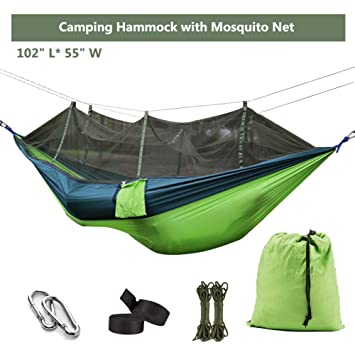 1-2 Person Outdoor Mosquito Net Parachute Hammock Portable Double Swing Elegant And Sturdy Package Baby Bedding