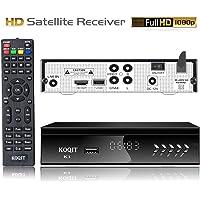 Free to Air FTA HD Digital Satellite TV Receiver Built-in Galaxy 19 97W Satellite Receiver DVB-S2 Digital Tv Box DVB-S2/S Clear TV Tuner Sat Decoder / USB WiFi/YouTube/EPG/PVR Recording to USB
