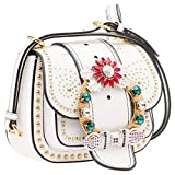 Miu Miu Women's 5BD0192EJAF0009 White Leather Shoulder Bag