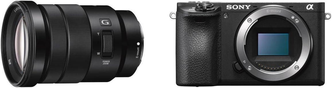 Sony Alpha ILCE6500B - Cámara compacta de 24.2 MP (11fps, 5 Ejes, AF de 0.05 s, con Montura E, 425 Puntos de Enfoque, F4 Constante, Lente G 18-105mm), Negro - Kit Cuerpo con Objetivo SELP18105G