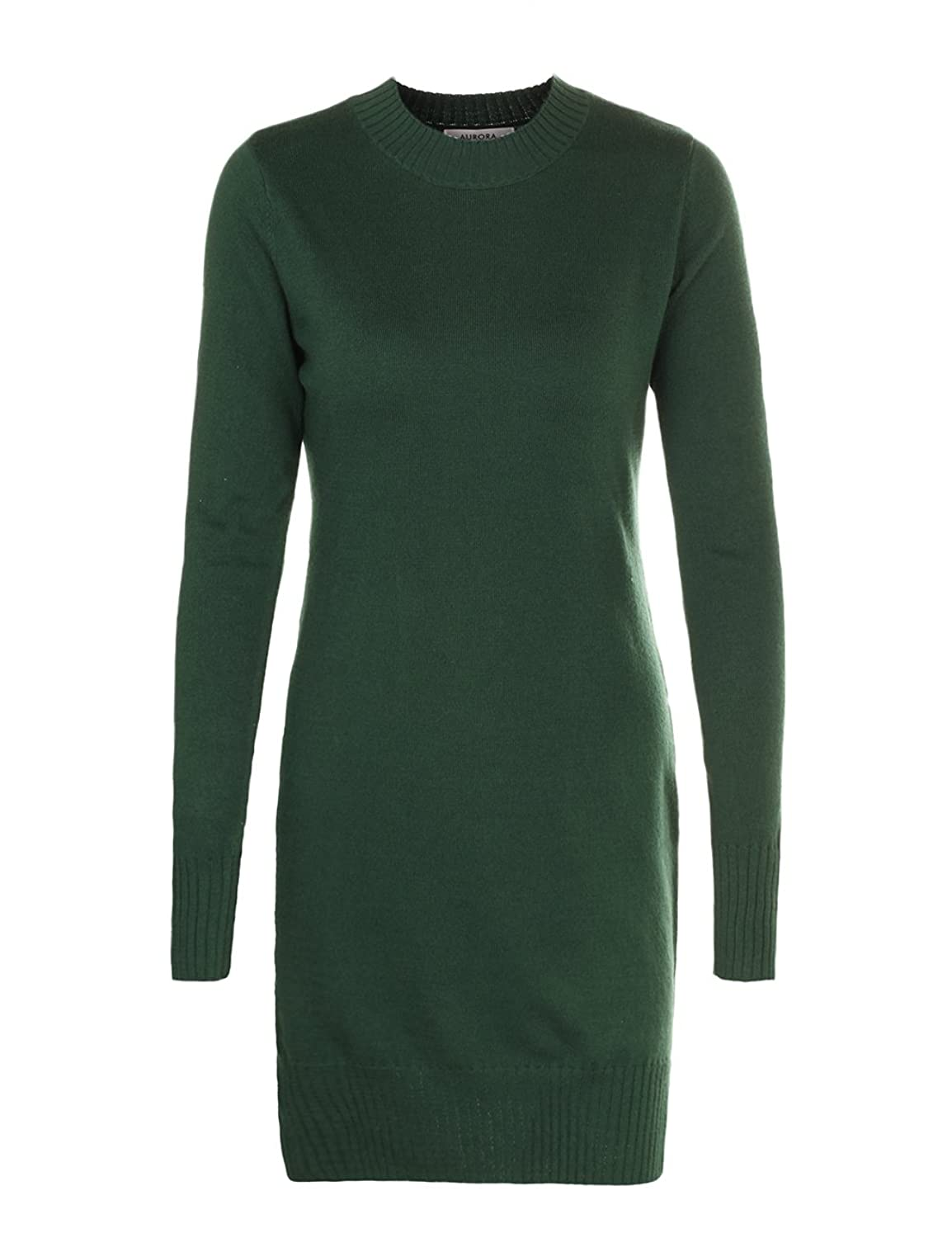 Aurora Sweater Dress Womens Winter Sweaters With Side Slit Cable Knit Top