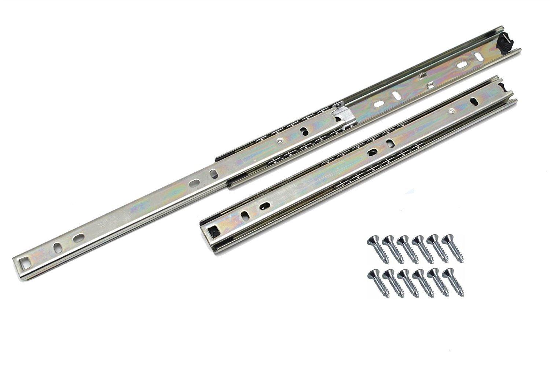 Schubladen-Schiene, Kugellager, H27, 400 mm, 2 Stück: Amazon.de ...