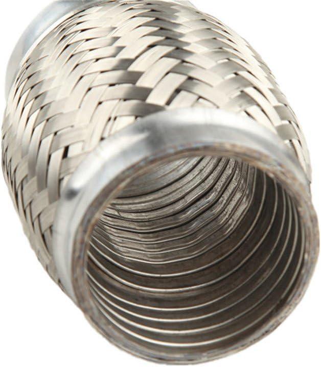 AdlerSpeed 2.25 Exhaust Flex Pipe 2 1//4 x 4 OL Heavy Duty Stainless Steel Interlock