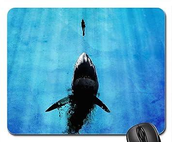 shark diver follows mouse pad mousepad sharks mouse pad amazon