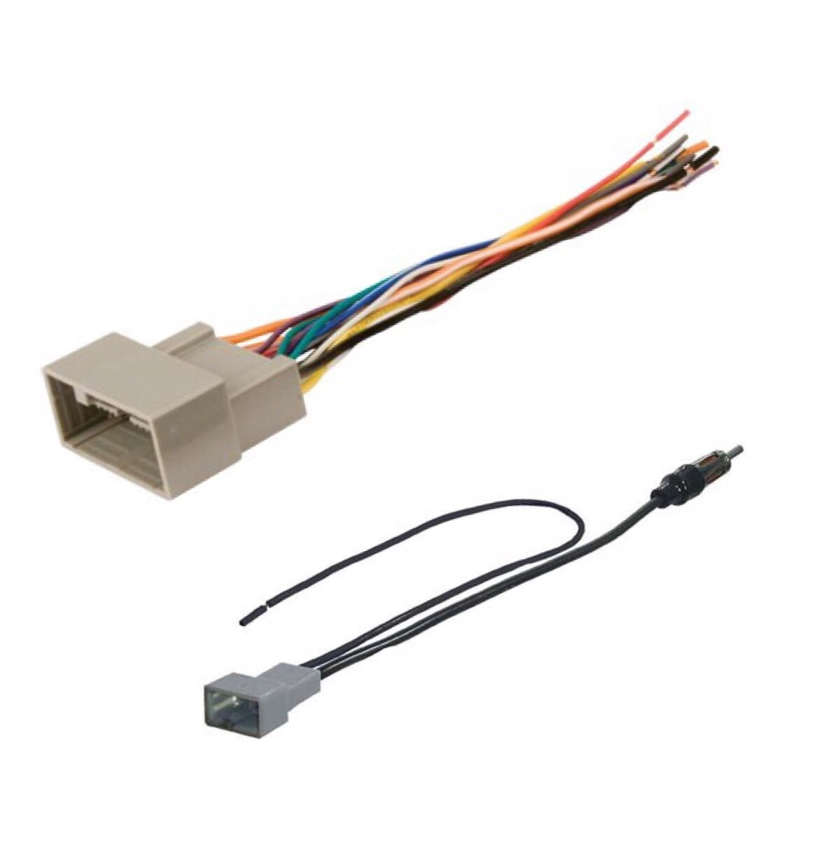 ASC Audio Car Stereo Radio Wire Harness and Antenna Adapter to Install an Aftermarket Radio for some Acura and Honda Vehicles - Compatible Vehicles Listed Below
