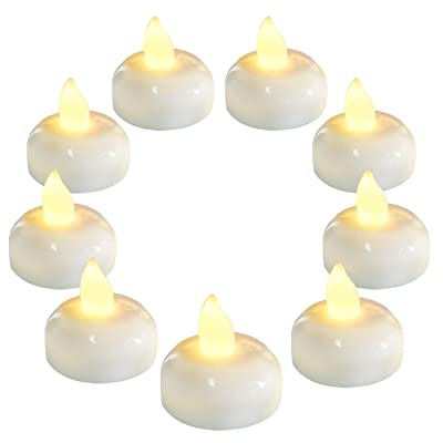 Homemory 36 Pack Flameless Floating Candles, Warm White Led Flickering Tealight Candles in Bulk, Decor for Wedding, Party, Centerpiece, Pool, Christmas: Home & Kitchen