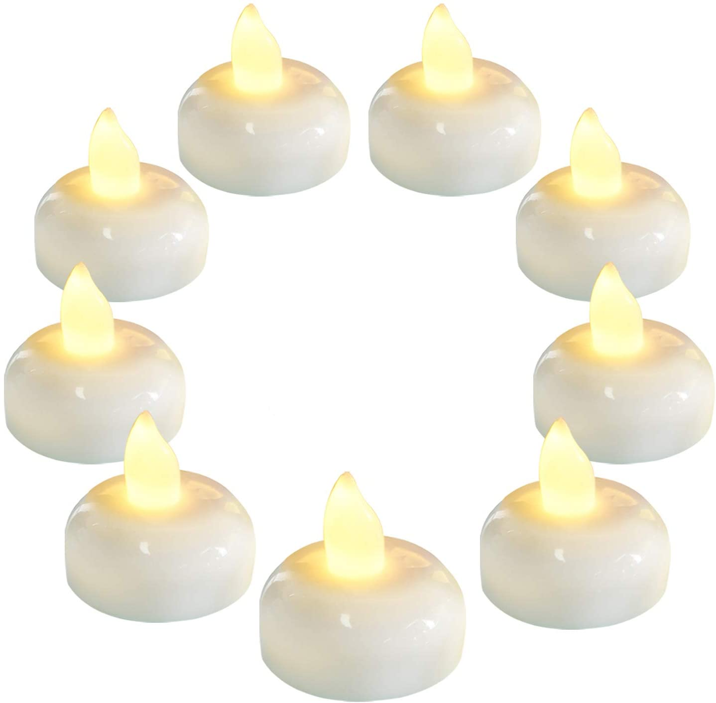 Homemory 36 Pack Flameless Floating Candles, Warm White Led Flickering Tealight Candles in Bulk, Decor for Wedding, Party, Centerpiece, Pool, Christmas