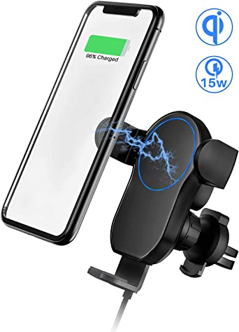 Samsung S20//S10 TORRAS 2020 Wireless Car Charger Mount for iPhone etc 2-in-1 Automatic Clamping Air Vent Car Phone Holder and Qi Fast Charger for iPhone se//11//11 Pro//11 Pro Max//Xs MAX//XS//XR//X//8