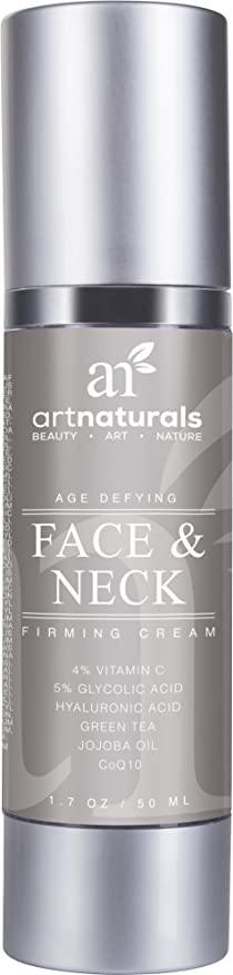 Art Naturals Crema Reafirmante Para Cuello 50 ml. Sérum Con Ingrediente Activo De Vitamina C