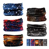 Oureamod Wide Headbands for Men and Women Athletic Moisture Wicking Headwear for Sports,Workout,Yoga Multi Function (Fantasy)