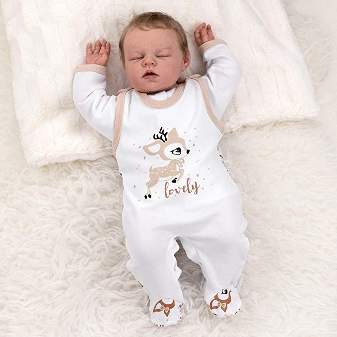 Baby Sweets Unisex 2er Baby-Set mit Hose /& Shirt f/ür M/ädchen /& Jungen//Baby-Erstausstattung in Grau /& Wei/ß im B/ären-Motiv//Baby-Kleidung aus Baumwolle in Gr/ö/ße 6 Monate 68