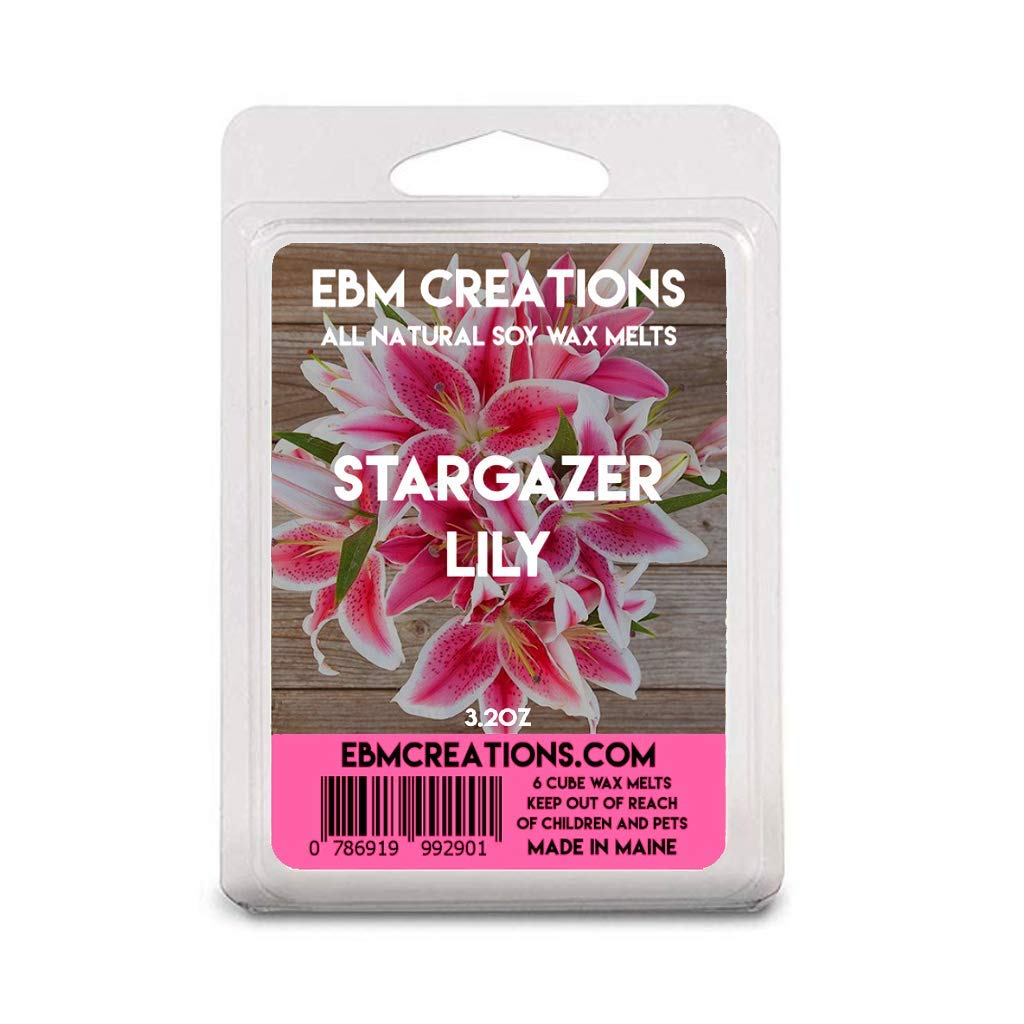 Stargazer Lily - Scented All Natural Soy Wax Melts - 6 Cube Clamshell 3.2oz Highly Scented!