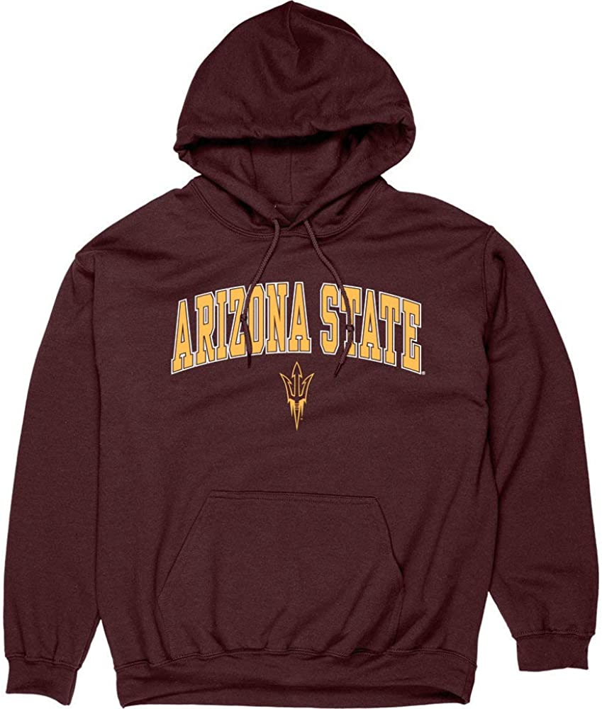 Elite Fan Shop NCAA Men's Team Color Hoodie Sweatshirt Arch : Clothing