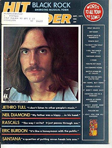 JAMES TAYLOR Eric Burdon WAR Santana JOE COCKER Brewer & Shipley September 1971 C ()