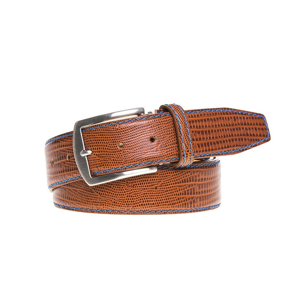 Cognac Mock Lizard Belt