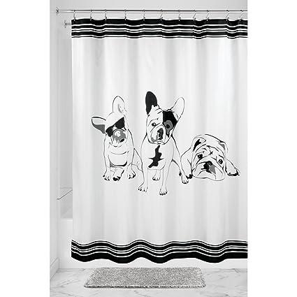Amazon InterDesign French Bulldog Fabric Shower Curtain 72 X