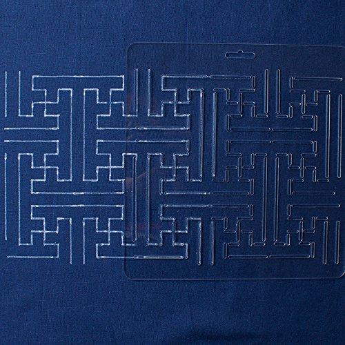 Thealese Sashiko Stencil By Acrylic Sashiko Embroidery Pattern