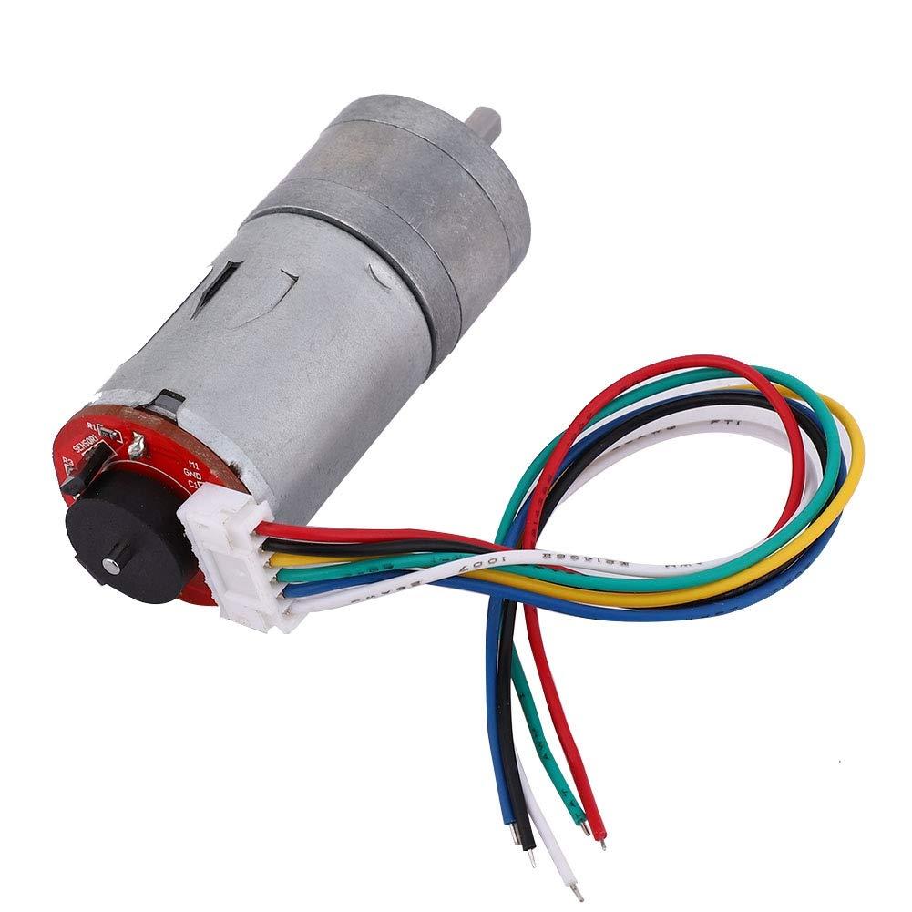 30RPM DC 12 V DIY Encoder Getriebemotor mit Halterung 65mm Magnetgetriebe Motor Rad Kit Micro Drehzahlreduzierung Motor Vollmetallgetriebe f/ür Smart Auto Roboter Modell DIY