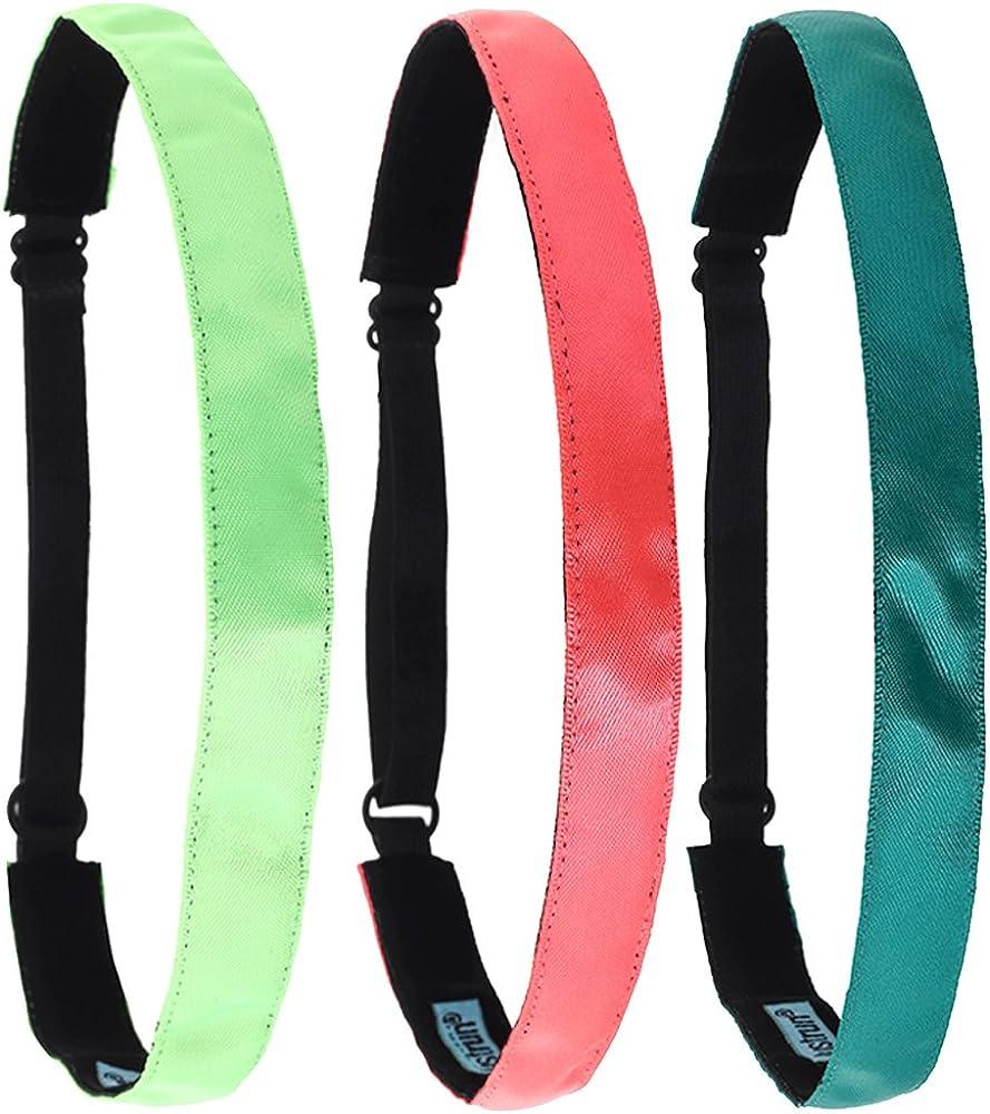 tennis Justrun 3/pezzi regolabile elastico sport fasce per capelli per donne o uomini/ pallavolo calcio /migliore per jogging corsa allenamento e yoga