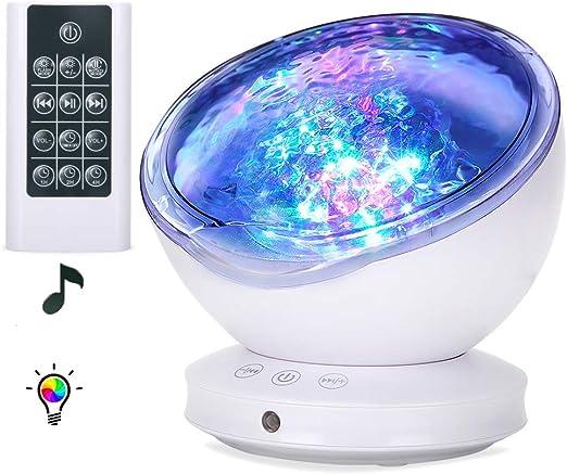 Lámpara Proyector, Proyector LED de Luz Océano con 45 Grados de ...
