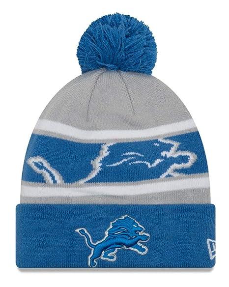 04206d16 Amazon.com : New Era Detroit Lions NFL Callout Pom Cuffed Knit Hat ...