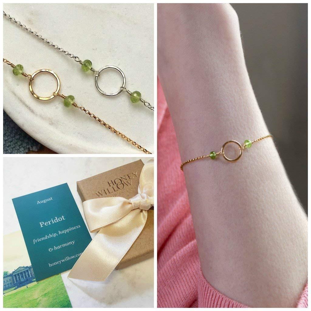 Stainless steel adjustable bracelet Birthstone Jewelry August birthstone jewelry Adjustable Peridot bracelet Dainty Peridot bracelet