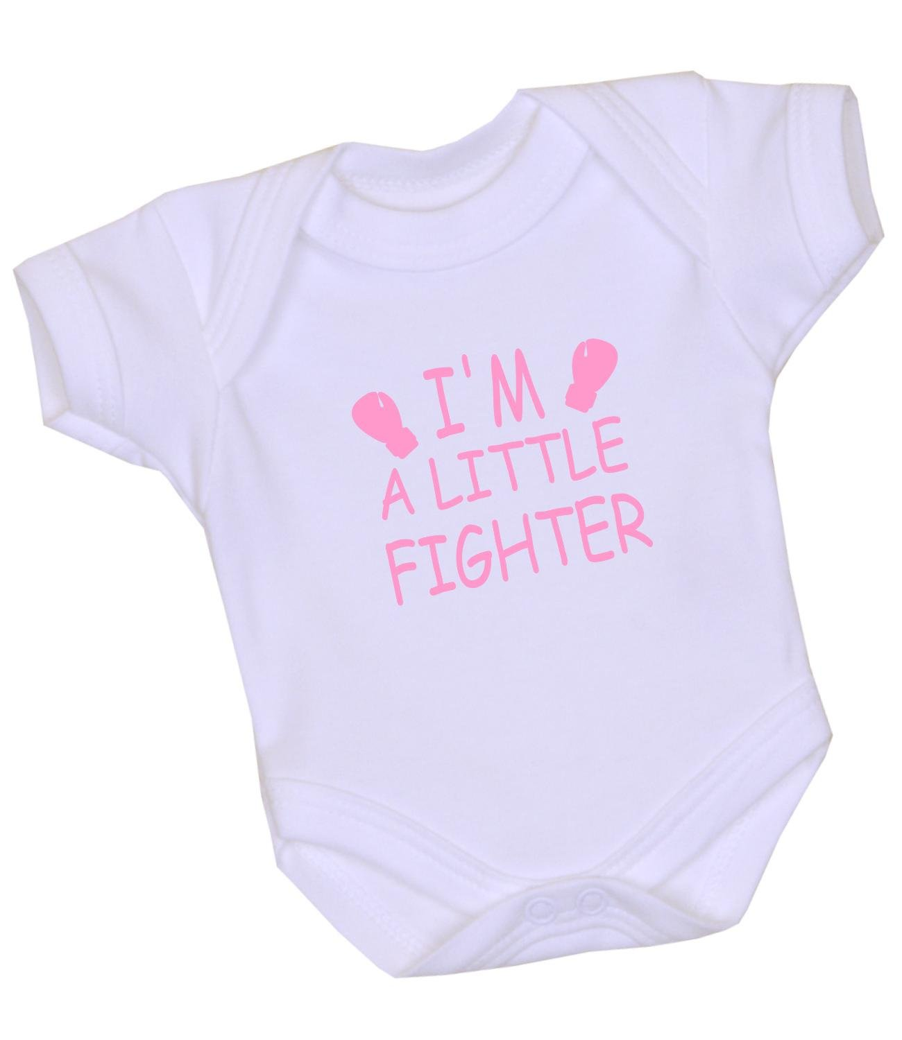 Amazon 1 I m a Little Fighter Premature Baby Clothes Bodysuit