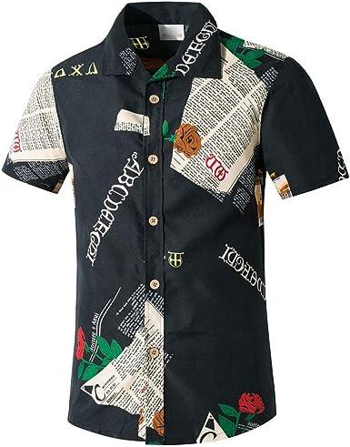 Camisas de Hombre T Shirt tee Camiseta de Manga Corta Casual Playa Secado rápido Playera Blusa Estampada Blusa Top: Amazon.es: Ropa y accesorios