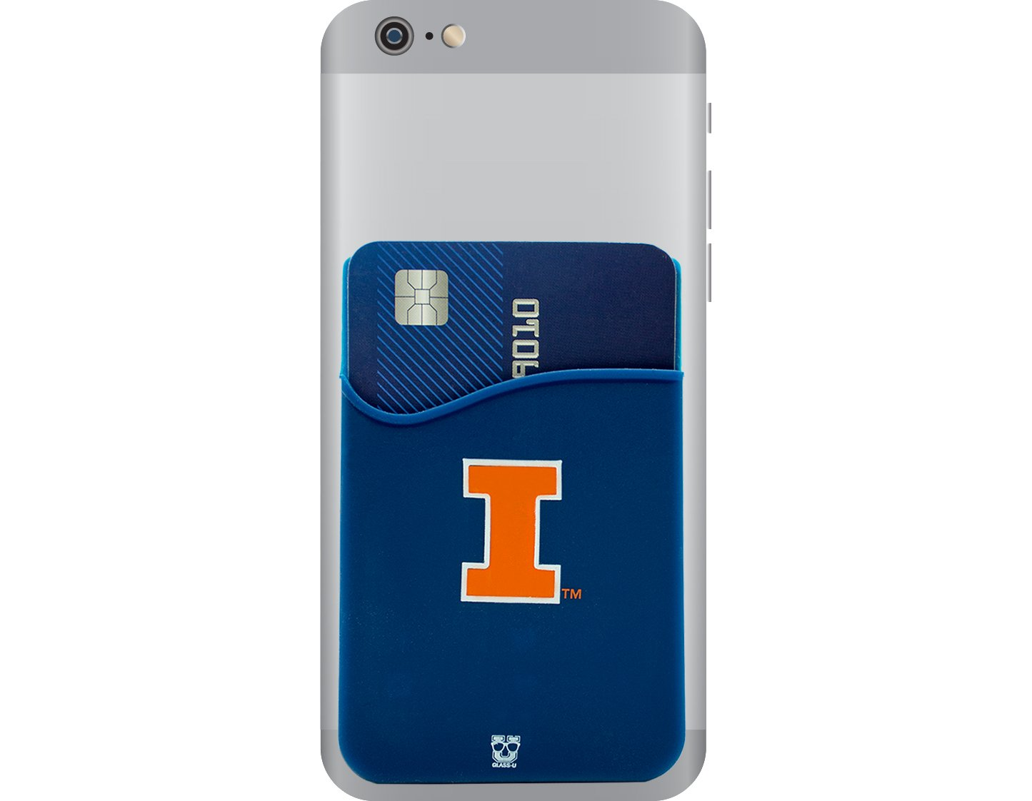 /& most Smartphones Penn State Nittany Lions Adhesive Silicone Cell Phone Wallet//Card Holder for iPhone Android Samsung Galaxy
