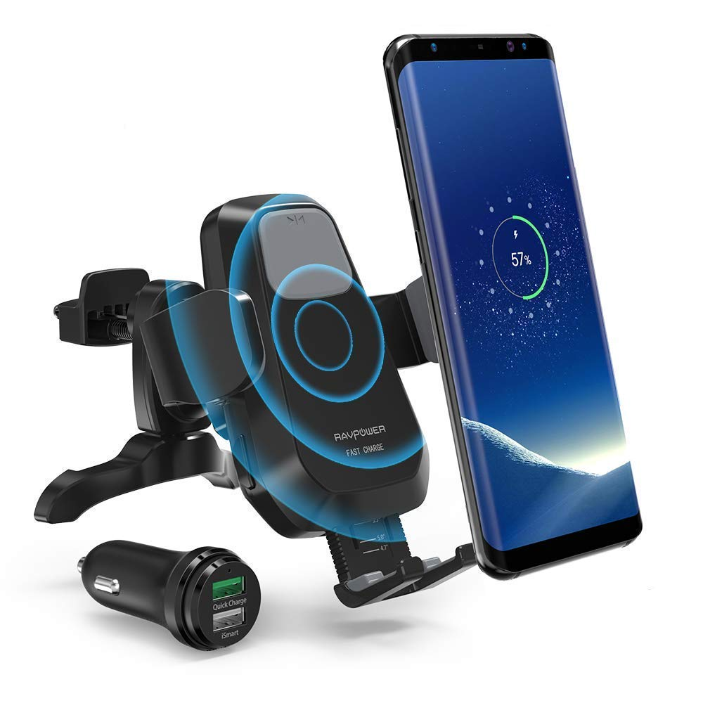 RAVPower Qi Wireless Car Fast Charger 7 5W / 10 W Phone